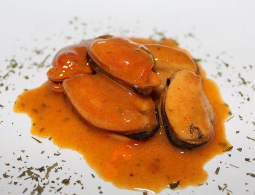 Mejillones con salsa Mariscos O Grove
