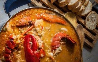 arroz con bogavante gallego